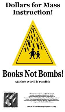 Books Not Bombs poster